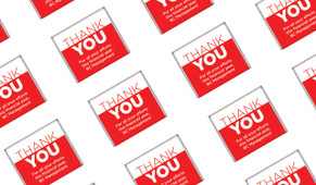 Contemporary Thank You Mini Chocolates