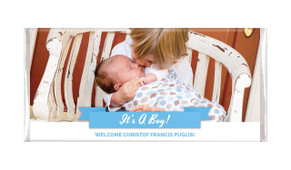 Banner Photo Blue Personalised Chocolate Bar