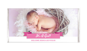 Banner Photo Pink Personalised Chocolate Bar