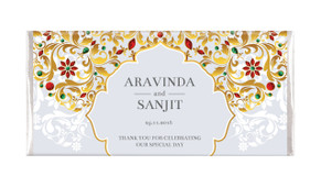Decorated Jewellery Personalised Wedding Chocolate Bar