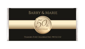 Band In Gold And Black Wedding Anniversary Chocolates