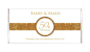 Band In Gold And White Wedding Anniversary Chocolates