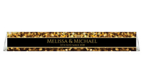 Gold Bokeh Toblerone Wedding Personalised Chocolates