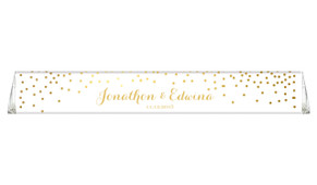 Gold Confetti Toblerone Wedding Personalised Chocolates