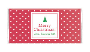 Red Polkadot Personalised Christmas Chocolate Bar