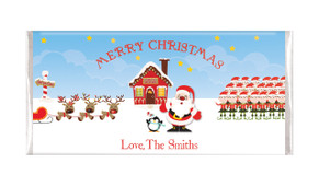 Santas Workshop Christmas Personalised Chocolate Bar