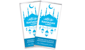 Ramadam Kareem In Blue Personalised Chocolates