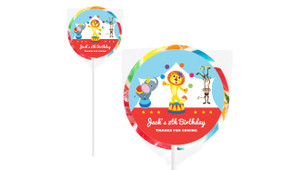 Circus Animals On Rainbow Lollipop