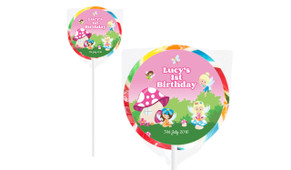 Fairy Garden On Rainbow Lollipop