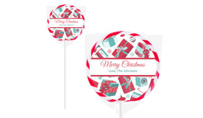 Wrapped Christmas Gifts Personalised Lollipops