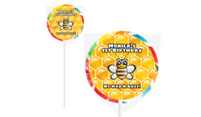 Bumble Bee On Rainbow Lollipop