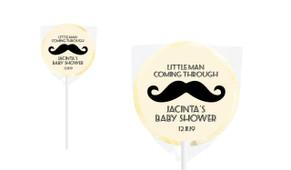 Moustache Of A Little Man Baby Shower Lollipops