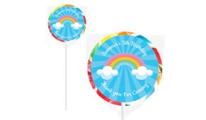 Rainbow Design On Rainbow Lollipop