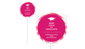 Keep Calm And Graduate Personalised Lollipops