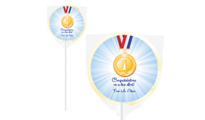 Medal 1st Place Personalised Lollipops