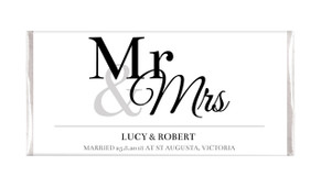 Mr & Mrs Announcement Chocolate Wedding Favours