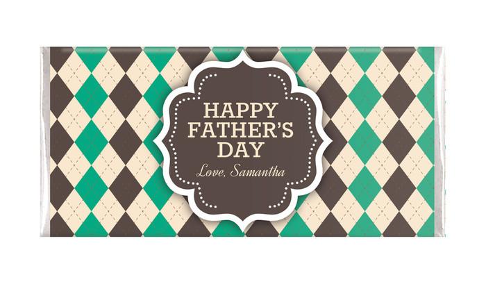 Argyle Fathers Day Custom Chocolates