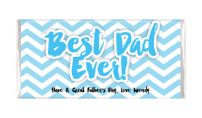 Chevron Father's Day Custom Chocolate Bar