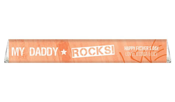 Daddy Rocks Custom Fathers Day Toblerone Chocolates