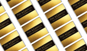 Solid Gold Wedding Mini Chocolates
