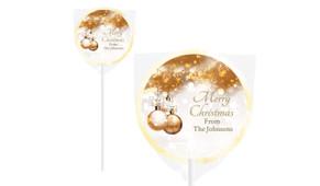 Bronzed Baubles Christmas Lollipops