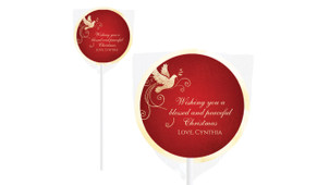 Dove In Gold Christmas Lollipops