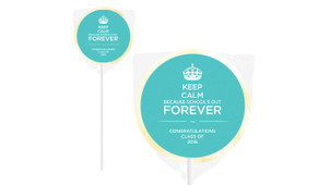 Keep Calm School's Out Personalised Lollipops