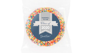 Blue Ribbon Graduation Personalised Chocolate Freckle
