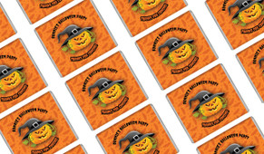 Laughing Pumpkin Halloween Mini Chocolates
