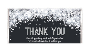 Confetti In Silver Thank You Chocolate Bars