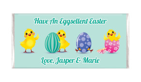 Chickens Hatching Easter Personalised Chocolates