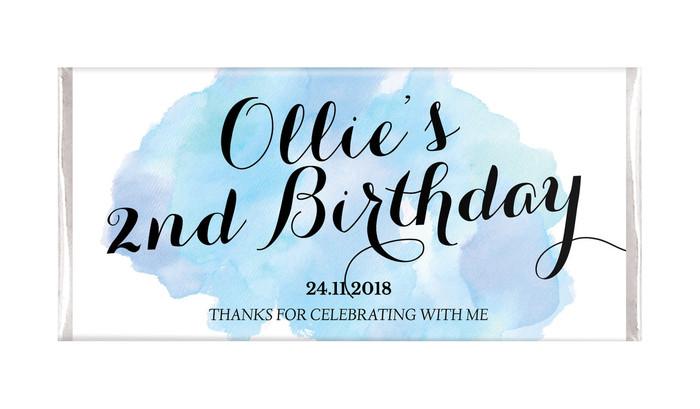 A Splash Of Watercolour In Blue Birthday Chocolates