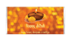 Bokeh Candle Diwali Custom Chocolates