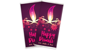 Abstract Flame Diwali Personalised Chocolates