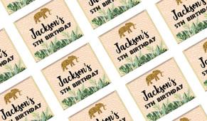 Jungle Gold Birthday Custom Mini Chocolates