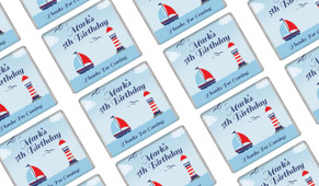 Boats At Sea Birthday Mini Chocolates