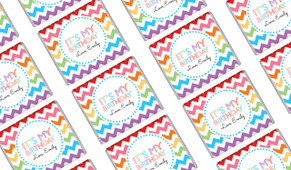 Chevron Rainbow Birthday Mini Chocolates