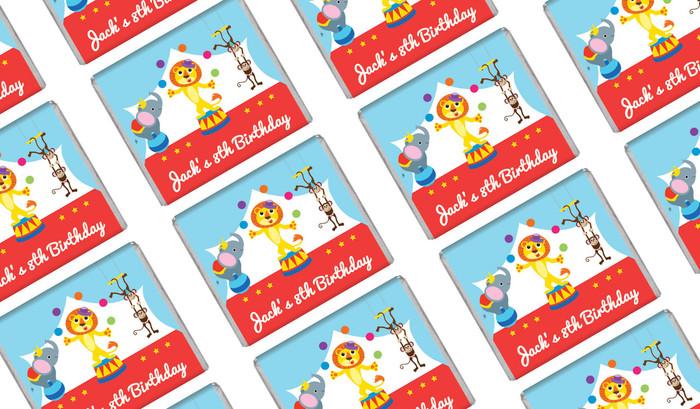 Circus Animals Birthday Mini Chocolates