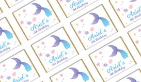 Mermaid Personalised Birthday Mini Chocolates