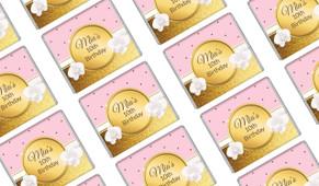 Pink & Gold Custom Birthday Mini Chocolates