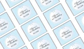 Polkadots In Blue Birthday Mini Chocolates