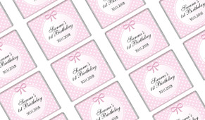 Polkadots In Pink Birthday Mini Chocolates