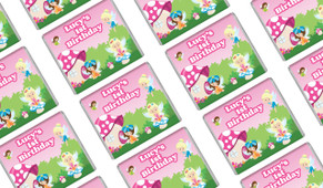 Fairy Garden Birthday Mini Chocolates