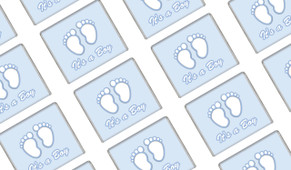 Baby Feet In Blue Baby Shower Mini Chocolates