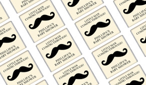 Moustache Of A Little Man Baby Shower Mini Chocolates