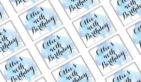 A Splash Of Watercolour In Blue Birthday Mini Chocolates