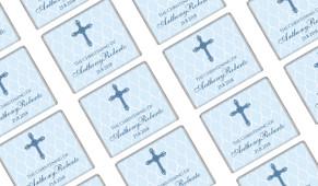 Religious Blue Christening Mini Chocolates