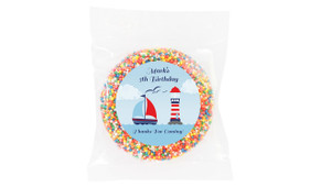 Boats At Sea Personalised Giant Chocolate Freckle