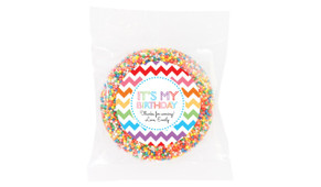 Chevron Rainbow Personalised Giant Chocolate Freckle