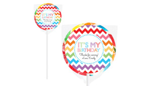 Chevron Rainbow On Rainbow Lollipop
